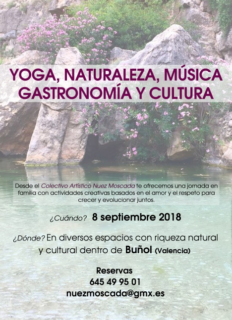 cartel jornada en Buñol-septiembre
