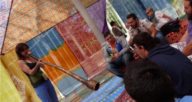Concierto con Ocno en el Palacio de Cristal del parque del Retiro. Madrid, 2015