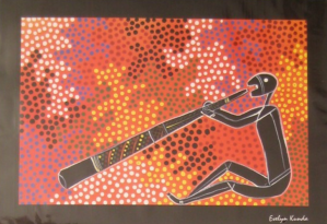 Arte tradicional aborigen australiano